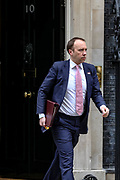 Secretary of State for Health and Social Care Matt Hancock leaving after attending a Cabinet meeting at 10 Downing Street, in London on Tuesday, Feb. 25, 2020. (Photo/Vudi Xhymshiti)