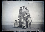 happy group together on the beach France circa 1930s