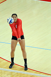 28 September 2014:  Stacey Niao during an NCAA womens volleyball match between the Evansville Purple Aces and the Illinois State Redbirds at Redbird Arena in Normal IL