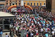 Start ambiance public illustration during the 101th Tour of Italy, Giro d'Italia 2018, stage 13, Ferrara - Nervesa della Battaglia 180 km on May 18, 2018 in Italy - Photo Ilario Biondi / BettiniPhoto / ProSportsImages / DPPI
