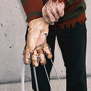 Mike Bufis in costume as Freddy Krueger at the 2021 New York Comic Con at the Javits Center in Manhattan, New York on Thursday, October 7, 2021. John Taggart for The New York Times