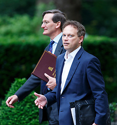 © Licensed to London News Pictures. 03/06/2014. LONDON, UK. Attorney General Dominic Grieve and Conservative Chairman Grant Shapps attending to a cabinet meeting in Downing Street on Tuesday, 3 June 2014. Photo credit: Tolga Akmen/LNP