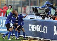 Fotball<br /> Italia<br /> Foto: Inside/Digitalsport<br /> NORWAY ONLY<br /> <br /> 04.11.2007<br /> Empoli v Roma 2-2<br /> <br /> Sebastian Giovinco celebrates scoring draw face a tv camera
