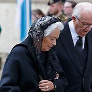LUX/Luxemburg/20190504 -  Funeral<br /> of HRH Grand Duke Jean, Uitvaart Groothertog Jean, oud koning Albert II (R) and ex koninging Paola van Belgie