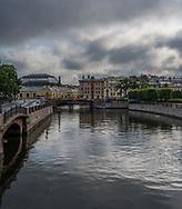 Dark clouds form over St Petersburg threatening to bring stormy weather.