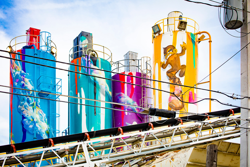 In Miami's Wynwood neighborhood --  famous for its street art -- even the Supermix Concrete factory gets beautified.