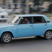 An old Soviet car on the streets of Havana,Cuba