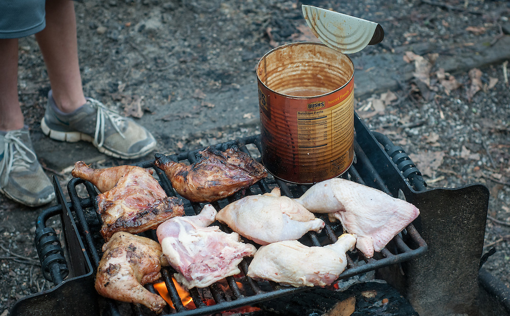 Chicken and beans at the Barkley Marathons.