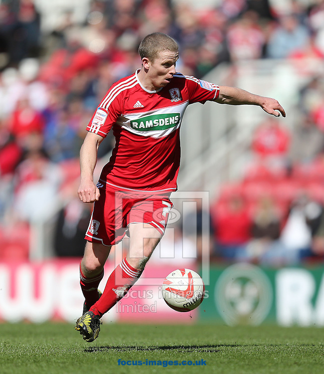 Picture by Paul Gaythorpe/Focus Images Ltd +447771 871632.27/04/2013.Grant Leadbitter of Middlesbrough during the npower Championship match at the Riverside Stadium, Middlesbrough.
