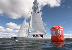Pelle P Kip Regatta 2019 Day 1<br /> <br /> Light and bright conditions for the opening racing on the Clyde keelboat season<br /> <br /> Etchells, Defiance