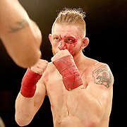 FORT LAUDERDALE, FL - FEBRUARY 15: Kaleb Harris is seen as he fights Jim Alers during the Bare Knuckle Fighting Championships at Greater Fort Lauderdale Convention Center on February 15, 2020 in Fort Lauderdale, Florida. (Photo by Alex Menendez/Getty Images) *** Local Caption *** Jim Alers; Kaleb Harris