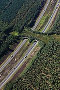 Nederland, Gelderland, Kootwijk, 06-09-2010; .Ecoduct over rijksweg A1 (Harm van de Veen ecoduct), ontwerp Zwart en Jansma.Ecoduct over motorway A1.luchtfoto (toeslag), aerial photo (additional fee required).foto/photo Siebe Swart