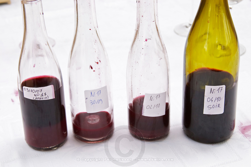 wine sample bottles domaine montirius vacqueyras rhone france