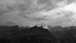 THEMENBILD - Grossglockner, höchster Berg Österreichs (3.798m) im Nebel. Kals am Großglockner, Österreich am Sonntag, 29. Juli 2018 // Grossglockner, Austria's highest mountain (3.798m) in the fog. Sunday, July 29, 2018 in Kals am Grossglockner, Austria. EXPA Pictures © 2018, PhotoCredit: EXPA/ Johann Groder