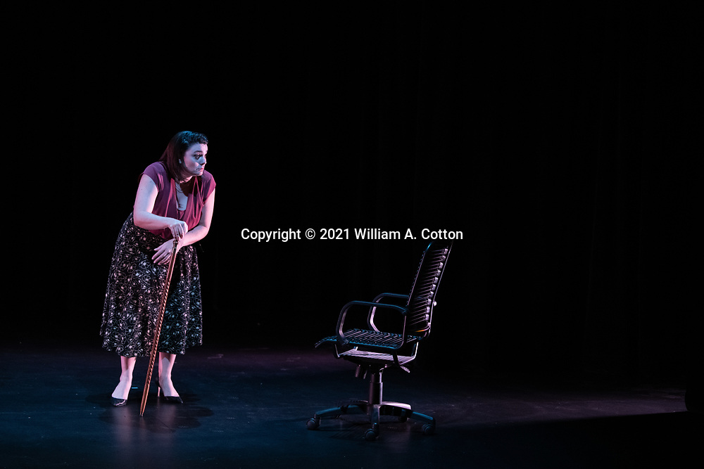 """The Bas Bleu Theatre Company rehearses it's production of """"Murderers,"""" September 9, 2020."""