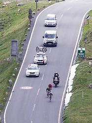03.07.2013, 03.07.2013, Fuscher Lacke, Grossglockner Hochalpenstrasse,  AUT, 65. Oesterreich Rundfahrt, 4. Etappe, Matrei in Osttirol - St. Johann Alpendorf, im Bild vorne Chris Anker Soerensen (DEN, Team Saxo – Tinkoff), mitte Rafal Majka (POL, Team Saxo – Tinkoff), hinten Mathias Frank (SUI, BMC Racing Team) // during the 65 th Tour of Austria, Stage 4, from Matrei in Osttirol to St. Johann Alpendorf, Grossglockner Hochalpenstrasse, Austria on 2013/07/03. EXPA Pictures © 2013, PhotoCredit: EXPA/ Johann Groder