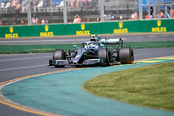 March 15, 2019 - Albert Park, VIC, U.S. - ALBERT PARK, VIC - MARCH 15: Mercedes-AMG Petronas Motorsport driver Lewis Hamilton (44) at The Australian Formula One Grand Prix on March 15, 2019, at The Melbourne Grand Prix Circuit in Albert Park, Australia. (Photo by Speed Media/Icon Sportswire) (Credit Image: © Steven Markham/Icon SMI via ZUMA Press)