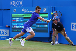 June 22, 2017 - United Kingdom - Stefan Kozlov (USA) against Marin Cilic CRO during Men's Singles Round Two match on the fourth day of the ATP Aegon Championships at the Queen's Club in west London on June 22, 2017  (Credit Image: © Kieran Galvin/NurPhoto via ZUMA Press)