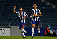 Pepe of Porto celebrates his goal  with Alex Telles during the Portuguese League (Liga NOS) match between FC Porto and Maritimo at Estadio do Dragao, Porto, Portugal on 3 October 2020.