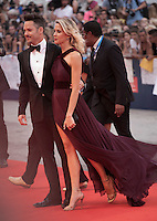 Scott Cooper and Jocelyne Cooper at the gala screening for the film Black Mass at the 72nd Venice Film Festival, Friday September 4th 2015, Venice Lido, Italy.