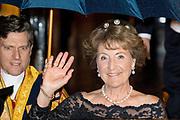 Koningspaar biedt Corps Diplomatique diner aan in het Paleis op de dam /// Royal Couple offers Corps Diplomatique dinner in the Palace on the dam<br /> <br /> Op de foto / On the photo:  Prinses Margriet