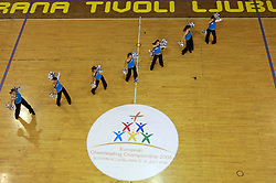 Show Programme at European Cheerleading Championship 2008, on July 5, 2008, in Arena Tivoli, Ljubljana, Slovenia. (Photo by Vid Ponikvar / Sportal Images).