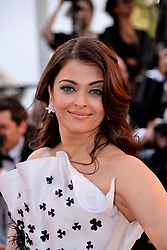 File photo dated May 20, 2015 of Aishwarya Rai Bachchan arriving at the Palais des Festivals for the screening of the film Youth as part of the 68th Cannes Film Festival in Cannes, France. Aishwarya Rai Bachchan has been taken to hospital after testing positive for Covid-19 earlier this week. The Indian actress, a former Miss World and one of Bollywood's most famous faces, is being treated at Mumbai's Nanavati Hospital, it was reported. her daughter Aaradhya has also been taken to hospital. Photo by Nicolas Briquet/ABACAPRESS.COM