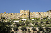 Jerusalem, Old City, The Golden Gate, (eastern gate) leads to Temple Mount It has been walled up since medieval times.