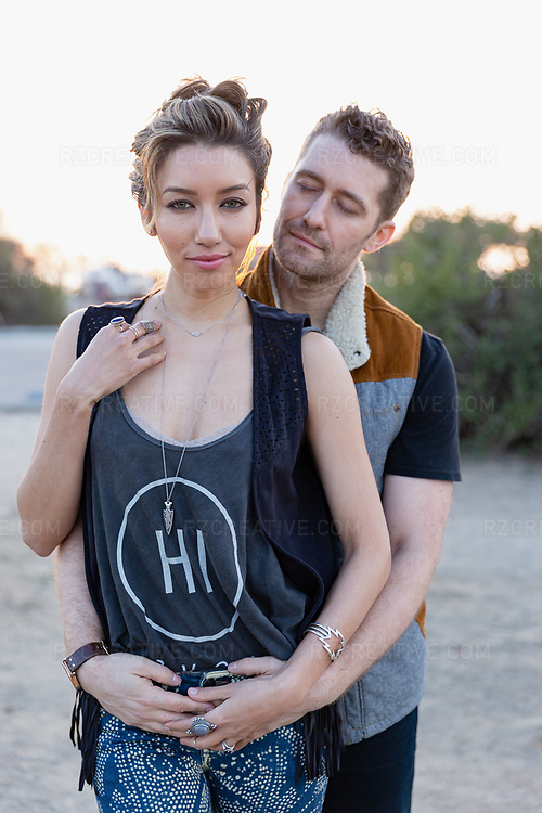 Portrait of actor Matthew Morrison and his wife Renee Puente Morrison. Photo © Robert Zaleski / rzcreative.com<br /> —<br /> To license this image contact: robert@rzcreative.com
