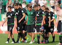 Fotball<br /> Tyskland<br /> 19.08.2012<br /> Foto: Witters/Digitalsport<br /> NORWAY ONLY<br /> <br /> v.l. Aleksandar Ignjovski, Sebastian Proedl, Clemens Fritz, Niclas Fuellkrug, Aaron Hunt (Bremen)<br /> <br /> Fussball, DFB-Pokal 1. Hauptrunde, SC Preussen Münster - SV Werder Bremen