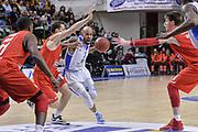 DESCRIZIONE : Eurocup 2015-2016 Last 32 Group N Dinamo Banco di Sardegna Sassari - Szolnoki Olaj<br /> GIOCATORE : David Logan<br /> CATEGORIA : Palleggio Penetrazione<br /> SQUADRA : Dinamo Banco di Sardegna Sassari<br /> EVENTO : Eurocup 2015-2016<br /> GARA : Dinamo Banco di Sardegna Sassari - Szolnoki Olaj<br /> DATA : 03/02/2016<br /> SPORT : Pallacanestro <br /> AUTORE : Agenzia Ciamillo-Castoria/L.Canu