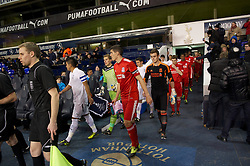 LONDON, ENGLAND - Wednesday, February 1, 2012: Liverpool's captain Conor Coady leads his side out to face Tottenham Hotspur during the NextGen Series Quarter-Final match at White Hart Lane. (Pic by David Rawcliffe/Propaganda)