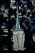 Empire State Building, designed by Shreve, Lamb & Harmon, William F. Lamb as chief designer (&Gregory Johnson), aerial