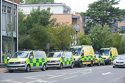 ©Licensed to London News Pictures 16/07/2020     <br /> Bromley, UK. A large emegency response in Bromley town Centre as two people are taken ill. A Bromley address has been evacuated due to a suspicious package.Photo credit: Grant Falvey/LNP