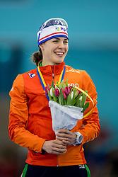 11-12-2016 NED: ISU World Cup Speed Skating, Heerenveen<br /> Marrit Leenstra pakt zilver op de 1000 m