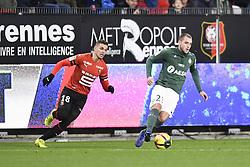 February 10, 2019 - Rennes, France - 18 HATEM BEN ARFA (REN) - 23 VALENTIN VADA  (Credit Image: © Panoramic via ZUMA Press)