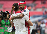 Football - 2017 FA Cup Final - Arsenal vs. Chelsea<br /> <br /> Olivier Giroud of Arsenal and Theo Walcott of Arsenal celebrate after winning the FA cup at Wembley.<br /> <br /> COLORSPORT/DANIEL BEARHAM