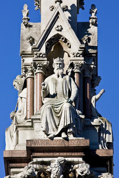 King Edward The Confessor statue on Westminster School Memorial, London, United Kingdom