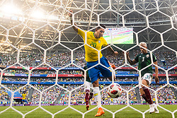 July 2, 2018 - Samara, Russia - 180702 Roberto Firmino of Brazil scores 2-0 during the FIFA World Cup round of 16 match between Brazil and Mexico on July 2, 2018 in Samara..Photo: Petter Arvidson / BILDBYRN / kod PA / AI180702_53f (Credit Image: © Petter Arvidson/Bildbyran via ZUMA Press)