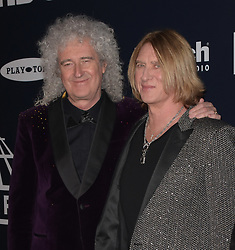 March 30, 2019 - Brooklyn, New York, USA - NEW YORK, NEW YORK - MARCH 29: Brian May, Joe Elliot of Def Leppard attend the 2019 Rock & Roll Hall Of Fame Induction Ceremony at Barclays Center on March 29, 2019 in New York City. Photo: imageSPACE (Credit Image: © Imagespace via ZUMA Wire)