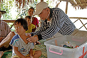 Dr. David Mar Naw in remote hill tribe village in northern Thailand