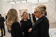 KAY SAATCHI, AMANDA ELIASCH, ,, opening of Frieze. Regent's Park. London. 4 October 2017