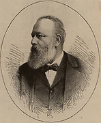 Theodor Billroth (1829-94) Austrian surgeon who practiced in Vienna. Pioneer of abdominal surgery; resection of intestine (1881), excision of larynx (1874).  Wood engraving from 'Scientific American' (New York, 1885).