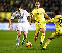 Villarreal CF's Roberto Soldado, J. Dos Santos and Real Madrid's James Rodriguez during La Liga match. December 13, 2015. (ALTERPHOTOS/Javier Comos)