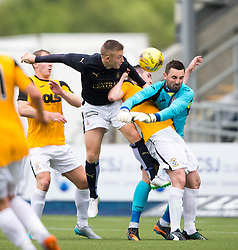 Falkirk's John Baird, East Fife's Declan O'Kane and keeper Ryan Goodfellow. Falkirk 3 v 1 East Fife, Petrofac Training Cup played 25th July 2015 at The Falkirk Stadium.