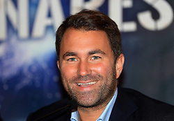 Promoter Eddie Hearn during the press conference at the Radisson Blu Edwardian Hotel, Manchester.