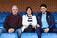 AFC Wimbledon defender Will Nightingale (5) sat in the stand with his mum and dad during the EFL Sky Bet League 1 match between AFC Wimbledon and Bolton Wanderers at the Cherry Red Records Stadium, Kingston, England on 7 March 2020.