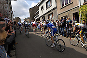 Belgium, Houffalize - Sunday, April 26, 2009: The peloton climbs the Cote de Sainte Roche  during the Liège-Bastogne-Liège 2009 cycle race.(Image by Peter Horrell / http://peterhorrell.com)