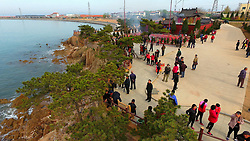 January 2, 2018 - Rongchen, Rongchen, China - Rongcheng, CHINA-2nd January 2018:(EDITORIAL USE ONLY. CHINA OUT) The Dongchu Island, a small fishing village located in Rongcheng, east China's Shandong Province, is regarded as one of the top ten most beautiful fishing village in China. (Credit Image: © SIPA Asia via ZUMA Wire)