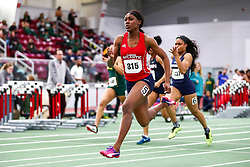 womens 60 meter prelim 4, Florida Atlantic, Natalliah Whyte, <br /> Boston University Scarlet and White<br /> Indoor Track & Field, Bruce LeHane